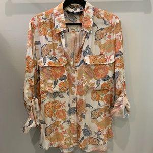 Zara Silky Patterned Blouse - Size S